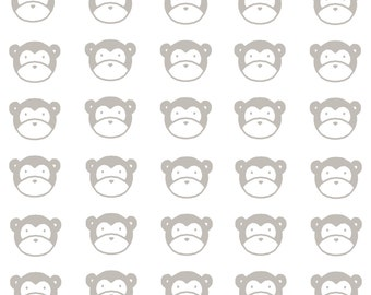 Monkey Card, Monkeys, Baby Card, Baby Shower Card, 5.5x4, Blank Inside, Children's Card, Animal Card