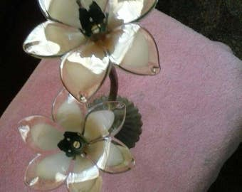 Vintage murano style lotus flower candle holder, made in Italy