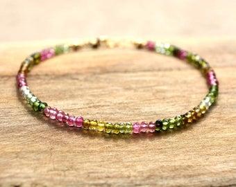 Sundance Style Bracelet | Boho Chic Jewerly | Gemstone Jewelry Gift | Tourmaline Jewelry | Sundance Jewelry | Bohemian Jewelry Bracelet Gift