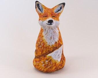 Litte Ceramic Fox Figurine - Miniature