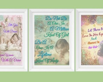 Digital Print Download / Little Girl Trio