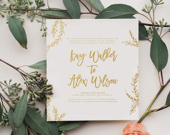 Floral Vine Wedding Invite