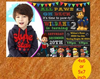 Paw Patrol Invitation /Paw Patrol Birthday Invitation /Paw Patrol Birthday /Paw Patrol Invite /Paw Patrol Party /Paw Patrol Printable