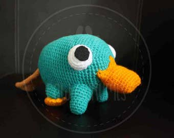 Perry the platypus - Phineas & Ferb - 20 cm (8 inches) amigurumi