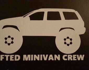 Lifted Minivan Crew Sticker - WJ