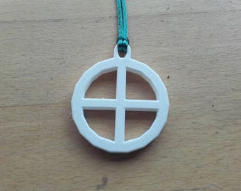 3D printed Planetary Symbol Necklace - Earth