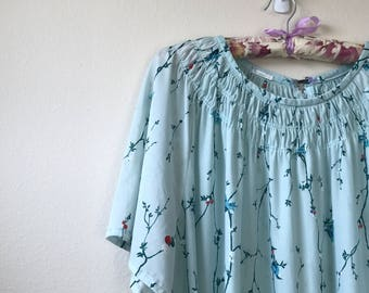 oversized floral sheath dress VTG