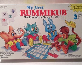 Pressman 1992 My First Rummikub Game Great Condition Complete FREE SHIPPING