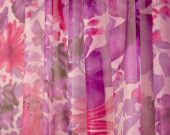Purple Floral Shimmer Fabric