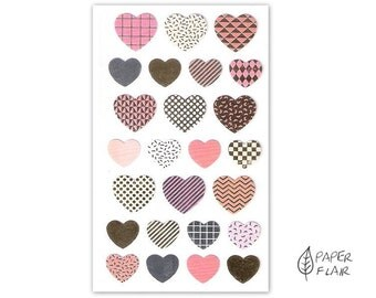 100 Washi tape sticker foil heart (RD36)