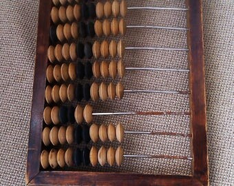 Old wooden abacus Vintage abacus russian calculator USSR wooden abacus