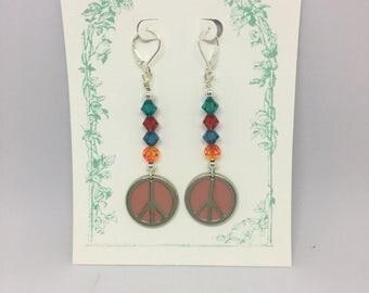 Rainbow Peace Earrings
