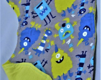 Boys Burp Cloth: Monster Mash