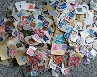 Over 250 Vintage Used British Stamps - Some King George