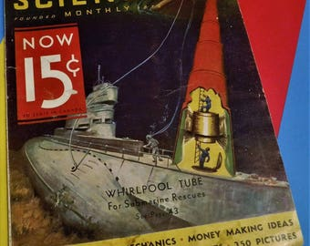 "POPULAR SCIENCE MONTHLY Magazine...October 1932...""Founded 1872""...How-To & Science Articles...Large Format"