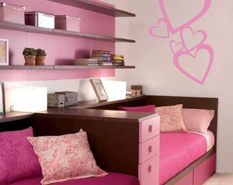 Lovely Hearts Vinyl Wall Decals