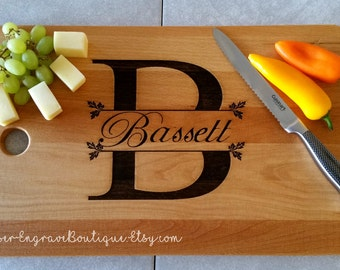 Kitchen Personalized Bamboo Board,Gift For Wedding,Laser Engraved,Wedding Gift,Custom Cutting Board,Engraved Cutting Board,Personalized Gift