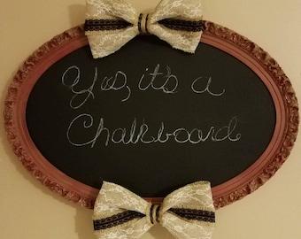 Oval framed chalkboard