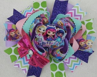 6in. Little Charmers stacked OTT hairbow