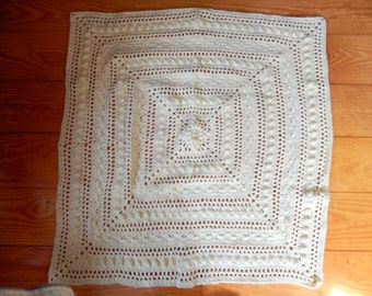 Made To Order Lace Crochet Baby Blanket