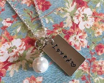 """Loved Necklace 18"""" chain"""