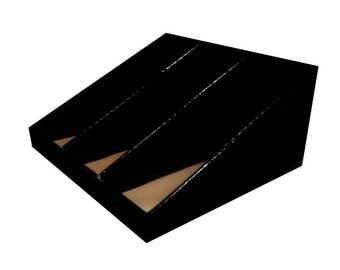 Gloss black CARDBOARD DONATION counter