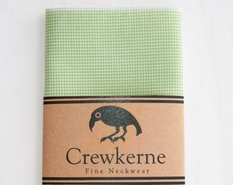 Pocket Square – Lime/White Micro Check