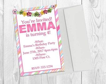 25 Birthday Invitations