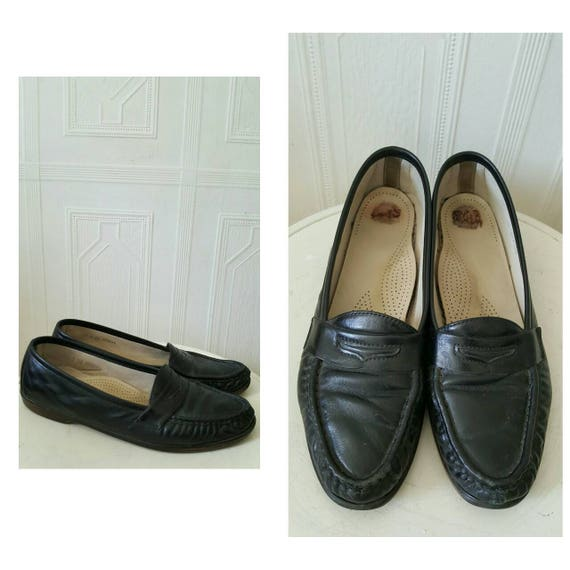 0a7fbe7b52d6c Vintage 1990s 90s loafers black loafers flat shoes black [AD137359 ...