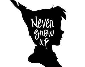 Never Grow Up Disney's Peter Pan Decal