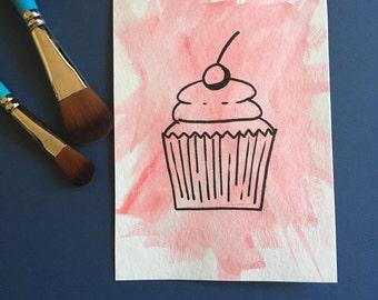 Original Cupcake Watercolor
