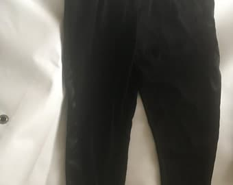 Stacy Black Trousers With Silk Sides