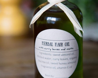 Herbal hair oil - promotes hair growth and reduce hair loss - 8 oz jar