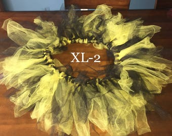 Yellow and Black Tutu for Adults XL-2XL