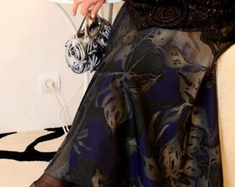 Vintage Plus size , Shirt Plus size , Vintage Shirt , Luxurious Vintage Shirt , Splendid vintage dress , lined, Plus Maxi Skirt