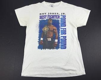 Vintage 90s roy jones jr boxing t-shirt mens M best fighter pound for pound