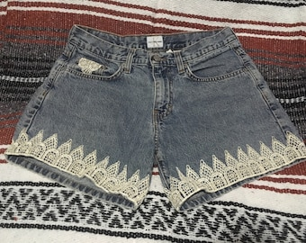 Vintage Calvin Klein shorts with lace detail