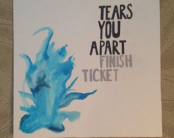 Tears You Apart painted album cover