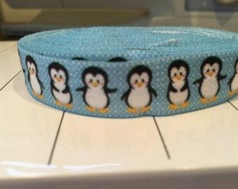 5 yds Penguin Stretchy Ribbon