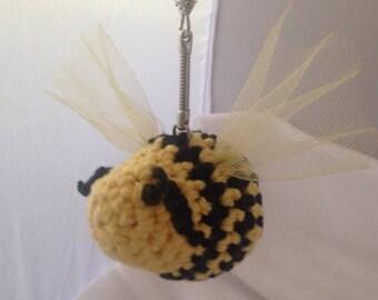 Amigurumi Bee keychain, backpack keychain