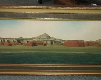 1920s Framed Joseph R. Willis Gallery Made Signed J.R. WILLIS Mixed Media Taos