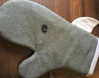 Wool Dolphin Oven Mitt