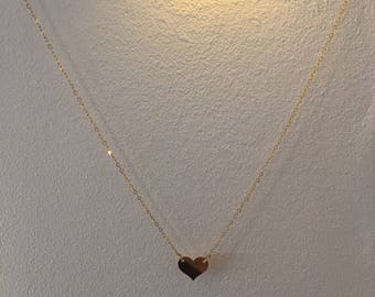Heart Necklace | Tiny Hearts Necklace | Gold  Heart Necklace | Gold filled  Necklace | Minimalist | Gold Love Neclace | Gold Heart Pendant