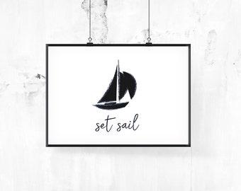 Poster Printable | SET SAIL