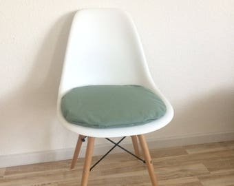 different heights very modern green mint seat cushions with zipper Eames Chair