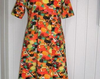 Ökotex - Cotton - Jersey dress, size M, A-line, unique,.