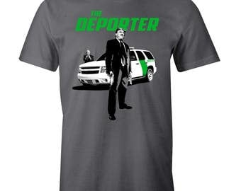 Trump the Deporter The Transporter Spoof Funny Immigration Men's T-Shirt