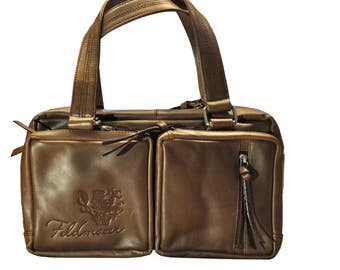 Brown Tote with an Italian flair, by Feldmoser1414, made in Austria