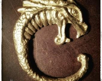 "Trailer ""Celtic Dragon"", bronze, limited edition, incl. certificate, no. 4/23"