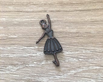 Antique Bronze Metal Ballerina Charms / Dancers / Jewelry / Bracelet Charms / Necklace Charms / Antique Ballerina / Bronze Charms